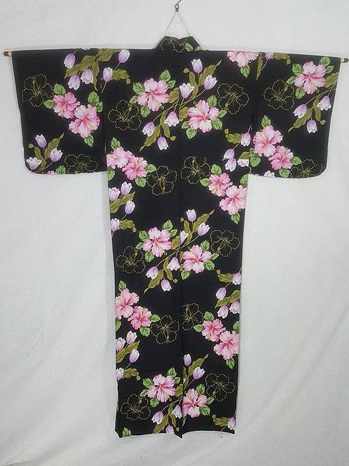 Black Floral Yukata