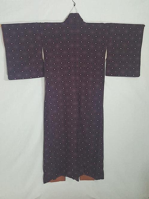 Dark Purple & Pink Kimono