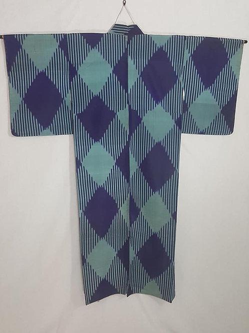 Teal & Purple Plaid Kimono