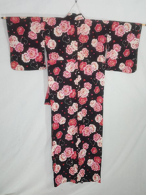 Pink & Brown Yukata