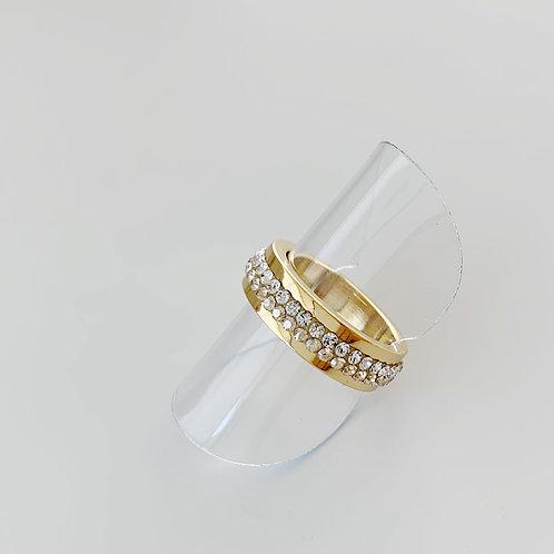 エタニティ―リング ゴールドリング ゴールドスワロフスキーリング 指が綺麗に見える