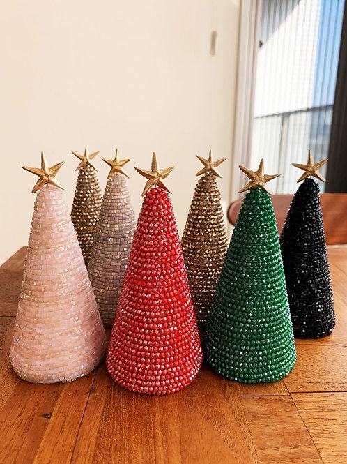たっぷりビーズのクリスマスツリー (大サイズ)