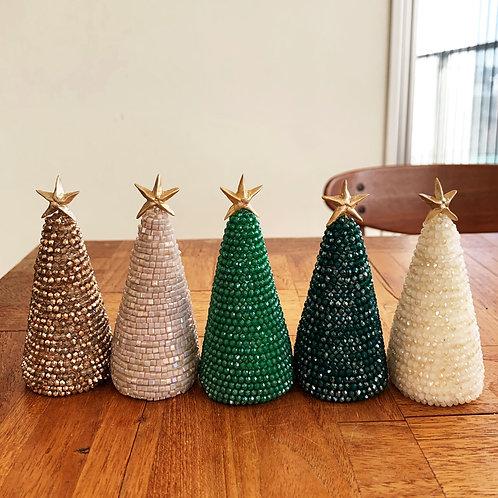 たっぷりビーズのクリスマスツリー(中サイズ)