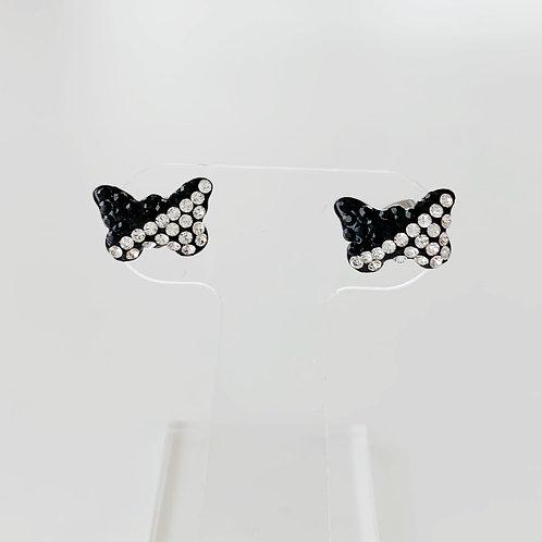 蝶々のモノトーンミニピアス