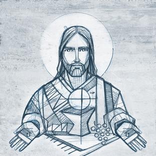 Dibujo de Jesús y Eucaristía / Jesus Christ and Eucharist drawing