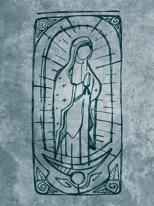 Virgin de Guadalupe drawing / Virgin of Guadalupe drawing