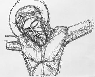 Jesús en la cruz torso / Jesus crucifixi