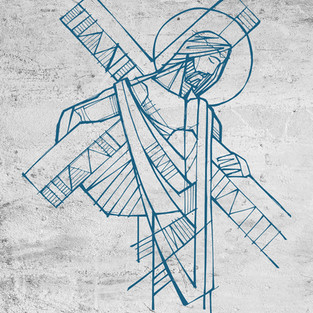 Jesús carga la cruz / Jesus with the cross