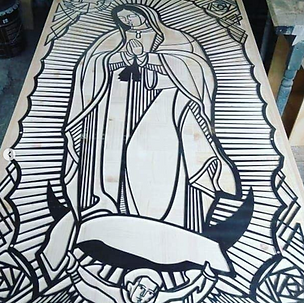 Virgen de Guadalupe corte láser / Our Lady of Guadalupe laser cut
