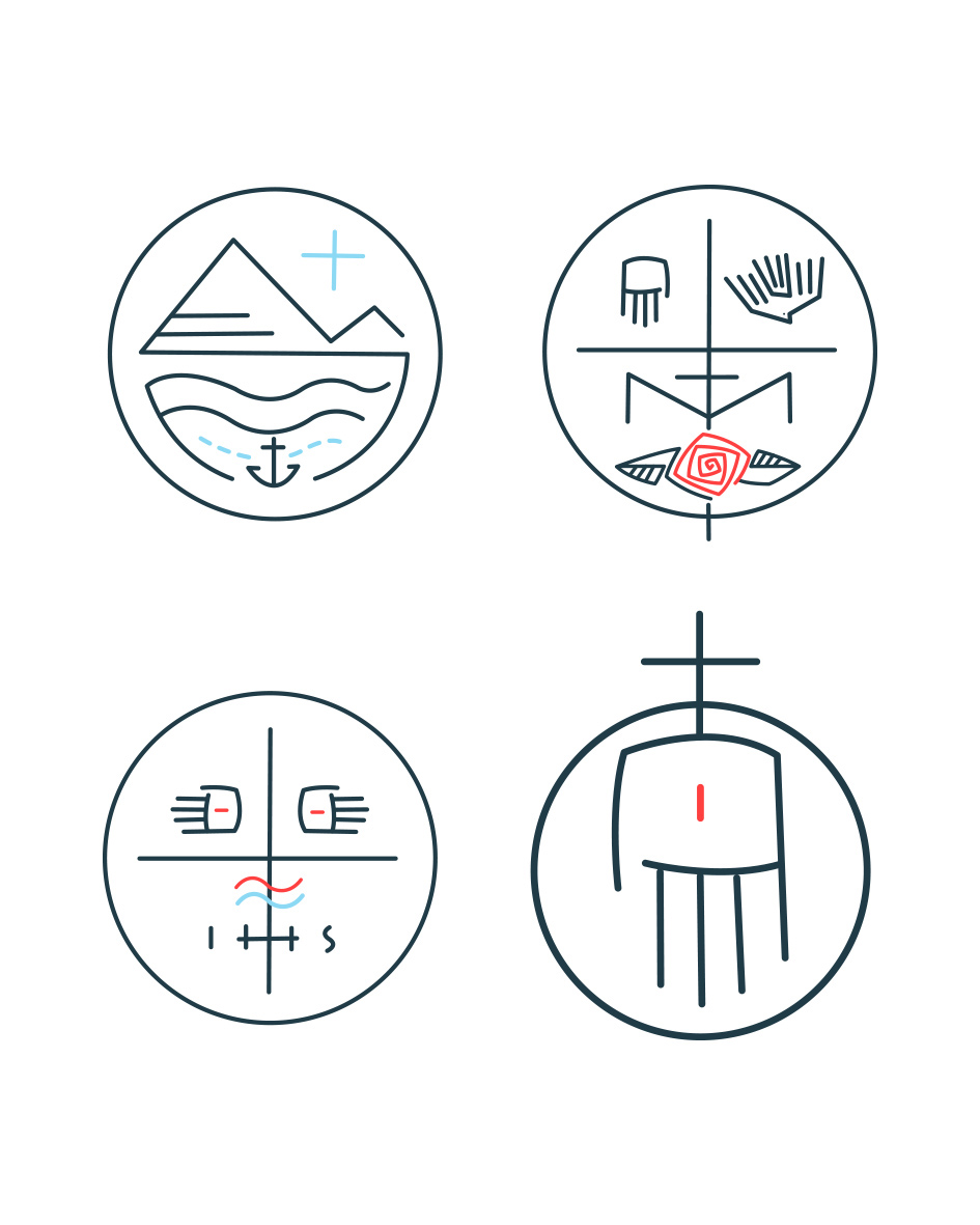 Símbolos cristianos diseño / Christian symbols design
