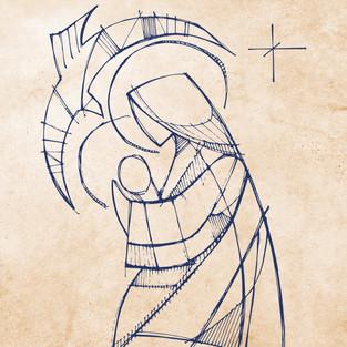 2017 Maria con Nino Jesus y Espiritu San