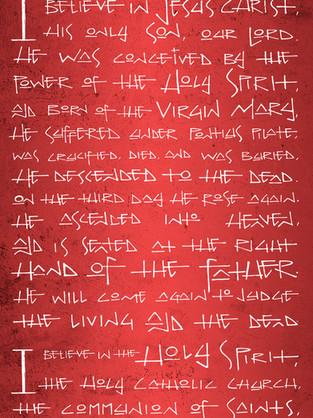 Apostles creed drawing