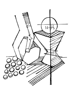Eucaristía dibujo / Eucharist drawing