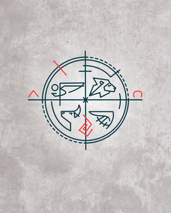 4 Evangelistas diseño símbolo / 4 Evangelists symbol design