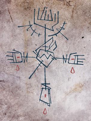 Cruz y símbolos dibujo / Cross and symbols drawing