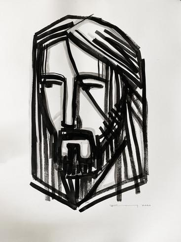 72 x 50 cms aprox. / Tinta sobre papel / Ink on paper / iknuitsin@gmail.com