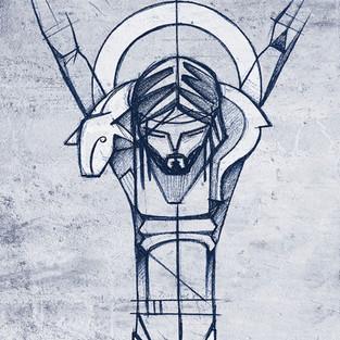 Buen Pastor en Cruz / Jesus Good Shepher