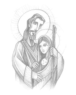 Sagrada Familia dibujo / Holy Family drawing