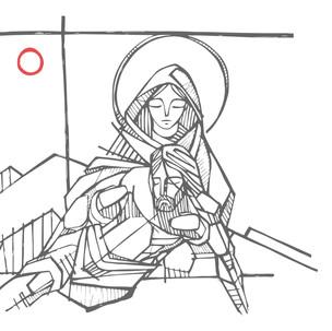 Jesús en brazos de María