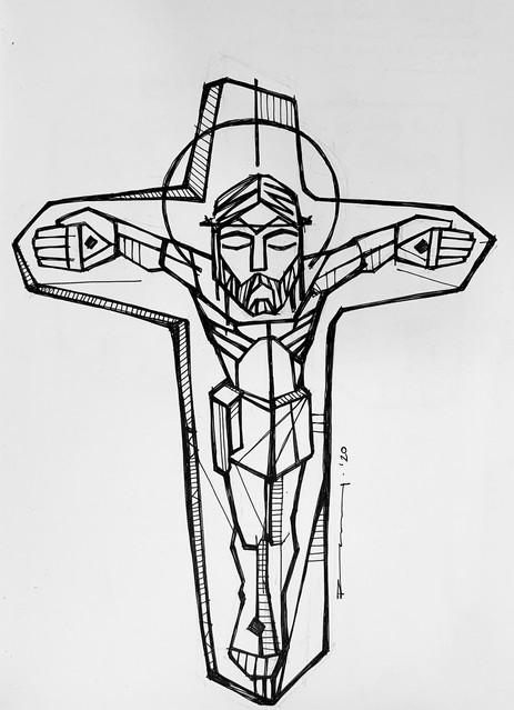 Cristo crucificado rústico / Christ at t