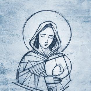María y Niño Jesus / Mary and baby Jesus
