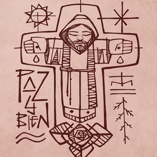 Jesús Franciscano dibujo / Franciscan Jesus drawing