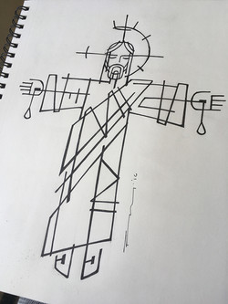 Cristo Rey dibujo / Jesus King drawing