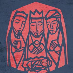 Reyes Magos vitral / 3 wise men