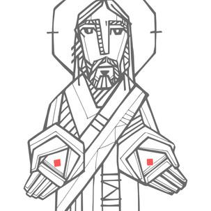 Jesús manos abiertas