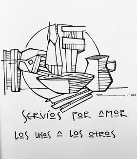 Lavatorio de pies / Jesus washing discip