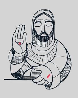 Jesus dibujo Eucaristía / Jesus Eucharist drawing