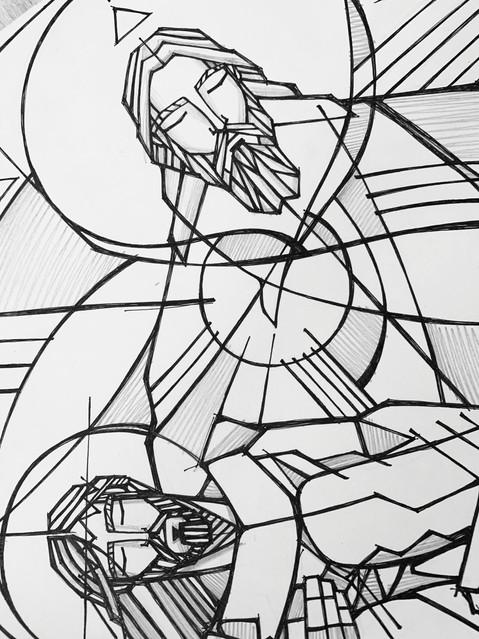 60 x 51 cms aprox / Tinta sobre papel