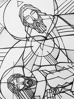 60 x 51 cms aprox / Tinta sobre papel / iknuitsin@gmail.com
