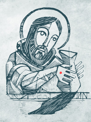 Jesús Alfarero dibujo / Jesus Potter drawing