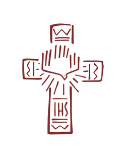 Cruz IHS y Espíritu Santo dibujo/ IHS cross and Holy Spirit drawing