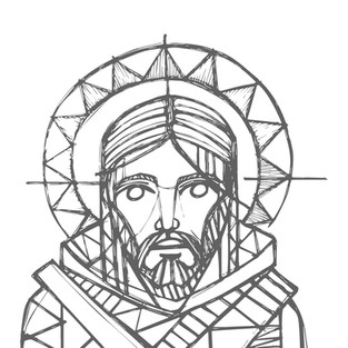 Jesús rostro dibujo / Jesus Christ face drawing