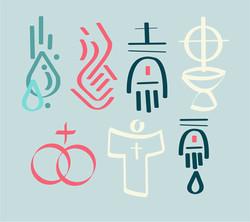 Sacramentos íconos / Sacraments icons