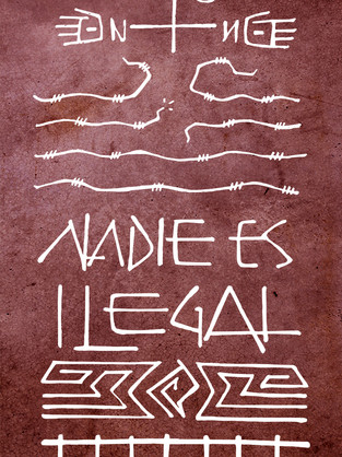 Nadie es ilegal dibujo / No one is illegal drawing