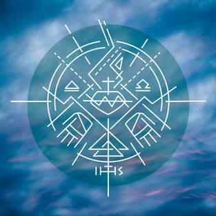 2017 Sagrado Corazon simbolo fondo nubes