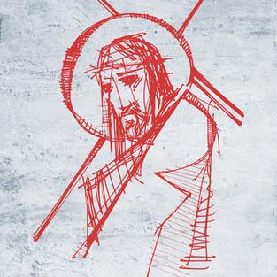 Dibujo Jesús cargando la Cruz / Jesus with the Cross drawing