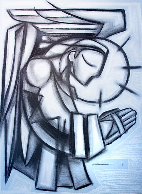 61 x 46 cms aprox. / Carbón sobre papel / Charcoal on paper