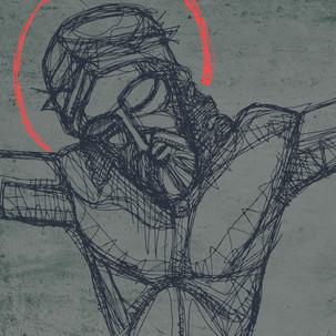 Jesús en la cruz torso / Jesus at crucif