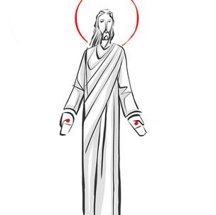 Jesús Resucitado dibujo / Jesus Resurrection drawing