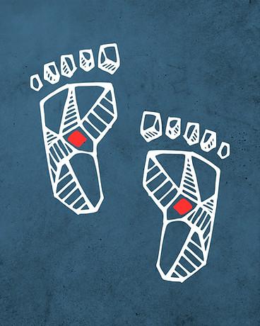 Pies de Jesús dibujo / Feet of Christ drawing
