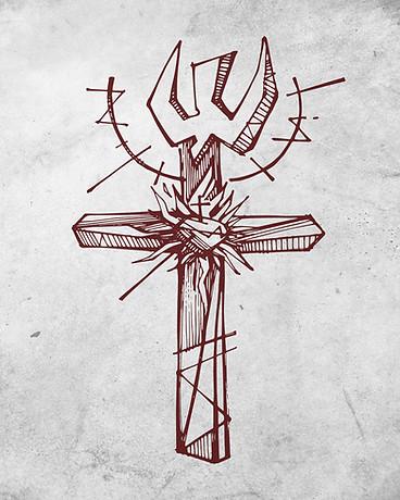 Cruz del Apostolado dibujo / Cross of the Apostolate drawing