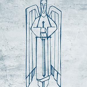 Dibujo Angel con espada / Angel with sword drawing