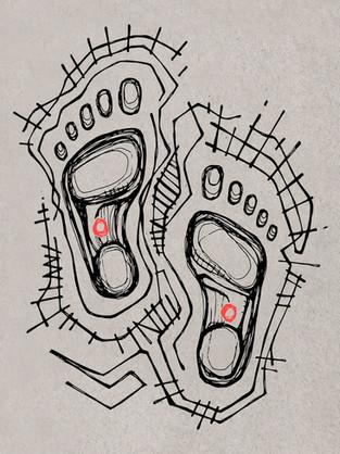 Pies de Jesús dibujo / Feet of Jesus drawing