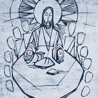 Jesús Eucaristía dibujo / Jesus Eucharist drawing