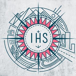 2019 Monograma IHS simbolo circular vida