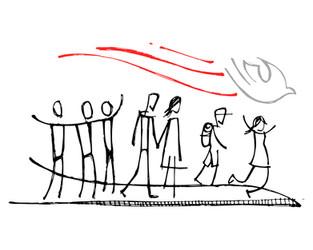 Siguiendo al Espíritu dibujo / Following the Spirit drawing